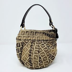 Fendi Beige Brown Zucca Small Bag